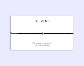 Adjustable Friendship Bracelet | Wish Bracelet | Rose Gold Filled |