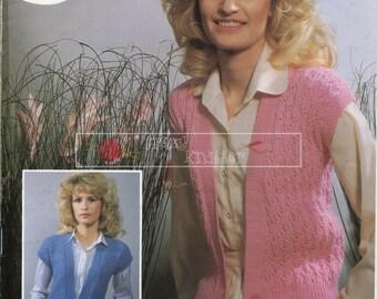 Lady's Lace Waistcoat DK 32-42in DK 32-42 Sirdar 6394 Vintage Knitting Pattern PDF instant download
