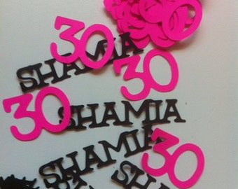 30th 40th 50th 60th 75th Birthday Decorations Personalized Table Confetti