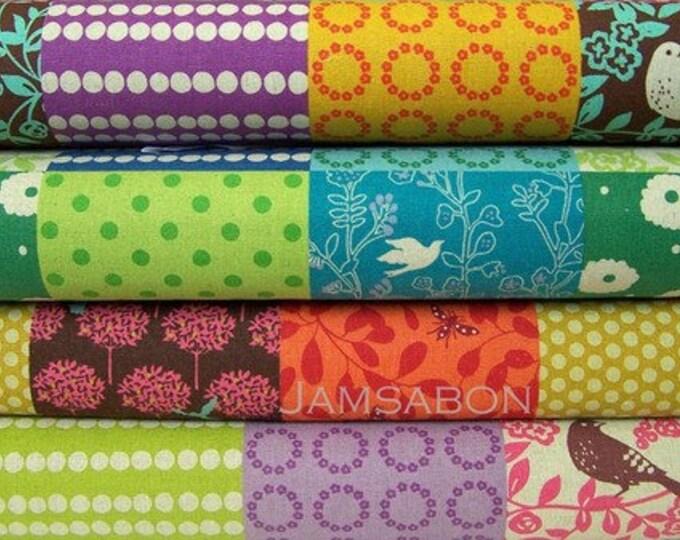 ECHINO Story patchwork - Japanese Cotton linen fabric  -  Etsuko Furuya - HALF yard of your choice