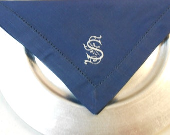 Monogrammed Napkins Linen-Like 20x20 Set of 6 Font Shown ORNMENTAL