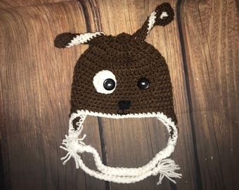 Crochet Puppy Dog Beanie ***free shipping***