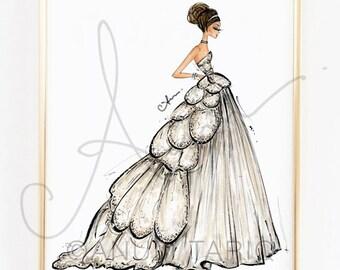 Fashion Illustration Print, Christian Dior at The Met