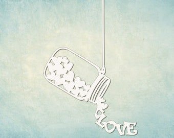 Chipboard scrapbooking  WEDDING LOVE