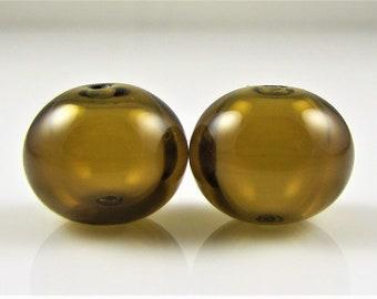 Maple Lampwork Glass Bead Pairs