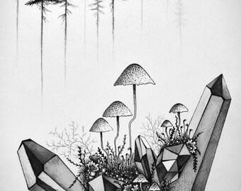 Moss & Pine Print