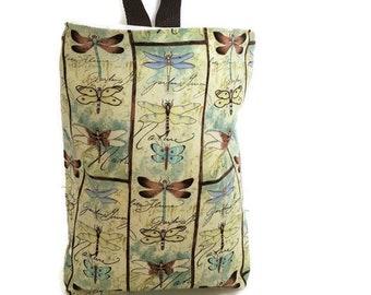 Waterproof Trash Stasher//Dragonflies//Car Trash Bag//Car Garbage Bag//Organizer Bar//Car Waste Bag//Litter Bag//Hanging Litter Bag
