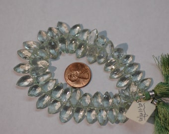 Green Amethyst Marquise Faceted