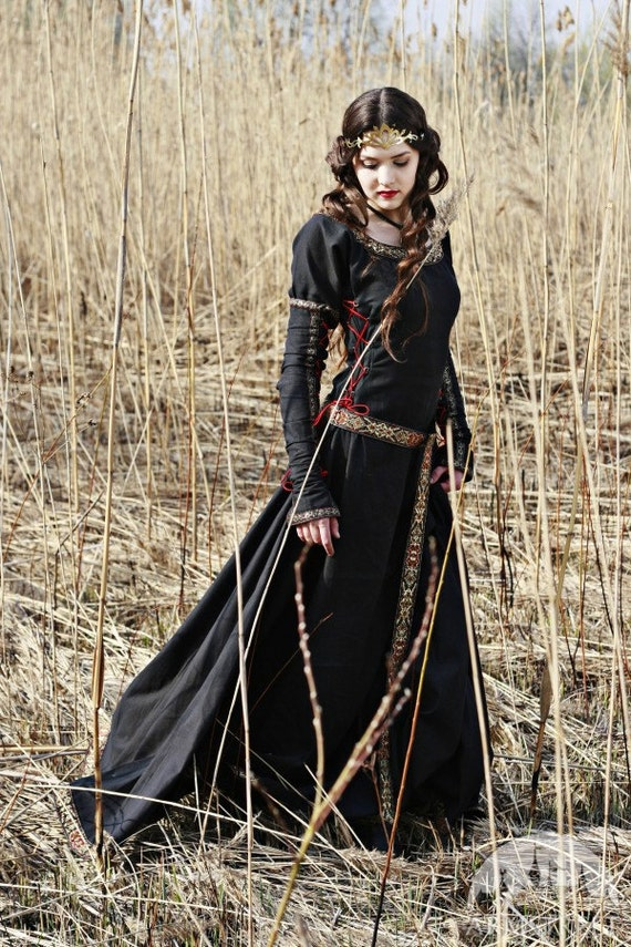 Medieval Hooded Overdress, Renaissance Fair - Chocolate Size S ...