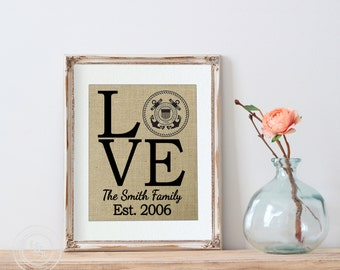 Uscg Wall Decor, White Walls, Coast Guard Retirement Gift, Gift for Uscg, Uscg Gifts, Personalized Uscg Print