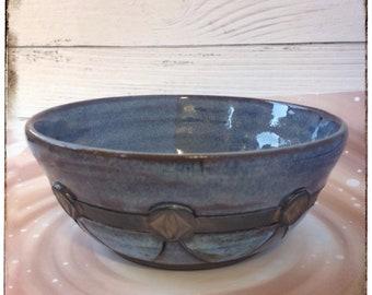 Ceramic Bowl, Pottery Wheel Thrown, Salad serving