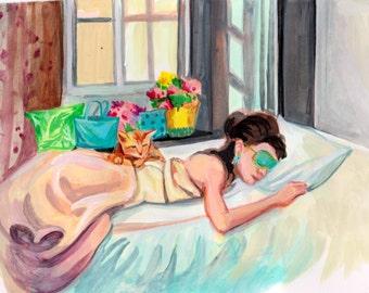 Art Print Breakfast at Tiffany's Byte Antonia Sanker