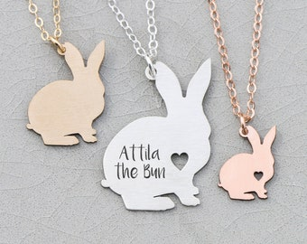 Bunny Necklace Pet Rabbit Memorial • Gift Bunny Silver Pet Bunny Rabbit Custom Bunny • Rose Gold Bunny Pendant Rabbit Loss Pet