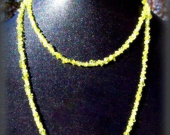 Green Peridot necklace- Lightness and Beauty