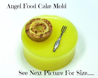 Tiny Cake Mold, Dollhouse Food, Tiny Food, Cake Cabochon Mold,  Angel Food Cake, Miniature Cake, Resin Cookies Mold Polymer Clay Mold