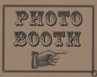 Photo Booth Props - Photo Booth Sign  - Photobooth Props