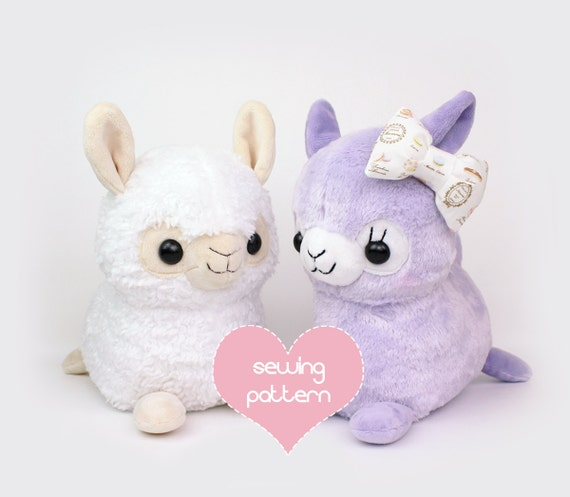 PDF sewing pattern Alpaca Llama stuffed animal kawaii