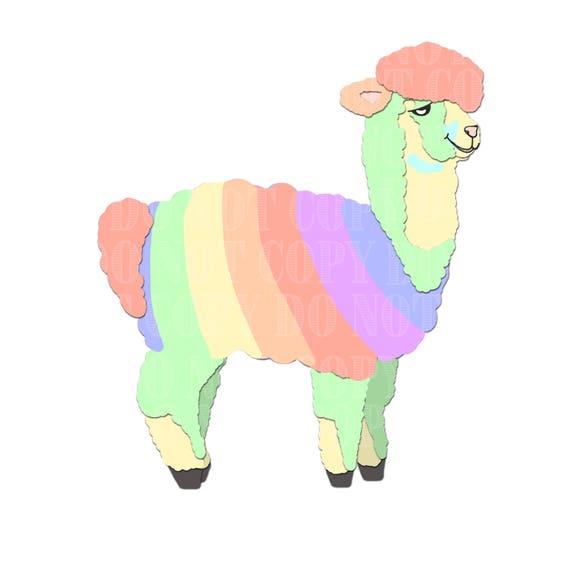 rainbow alpaca clip art clipart alpacas alpaca vectors alpaca rh etsystudio com llama clipart png llama clipart cute