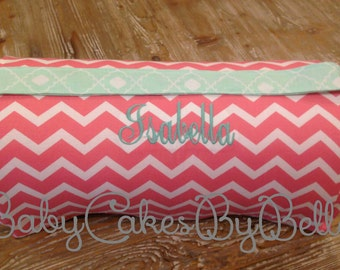 Nap Mat, Sleep Mat, Preschool Mat WITH BLANKET, Chevron, Coral, Mint, Quatrefoil, Baby Shower Gift, Personalized Gift, Monogrammed Mat