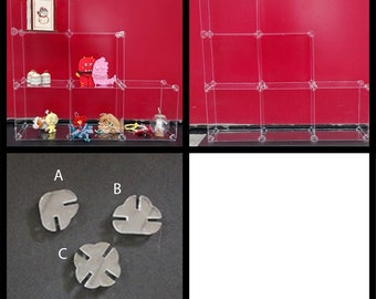 Plexiglass, modular Showcase