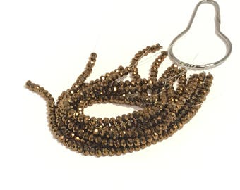 Brown Crystal Beads