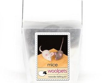 Mice Needle Felting Kit from Woolpets