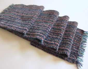 Luxurious Handwoven Chenille Scarf