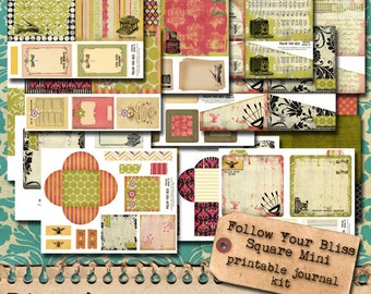 Follow Your Bliss - Printable Journal KIt