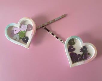 Valentine's Day Heart Bobby Pins Hair Pins