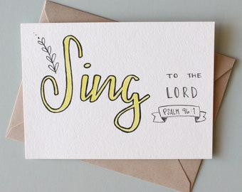 Sing to the Lord flat print