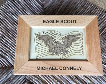 Scout Eagle Maple Memory Box