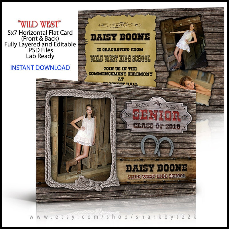 Western senior invitation and graduation announcement zoom filmwisefo Image collections