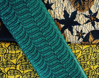 WAX - cotton African fabric - Double sided