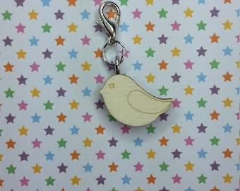Sparrow wooden progress keeper - knitting notions - charm