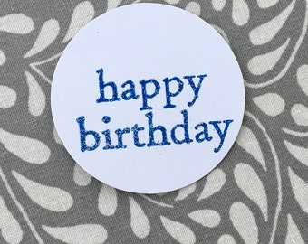 Happy Birthday Embossed Gift Tag (Set of 5)