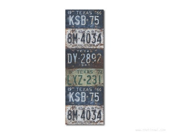 Bookmark Texas License Plates   Stocking Stuffer   Gifts Under 5   Book Lover   Texas Pride