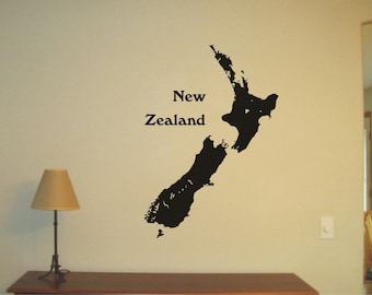 Extra large world map wall sticker vinyl decal wall tattoo new zealand vinyl decal wall sticker wall tattoo gumiabroncs Choice Image