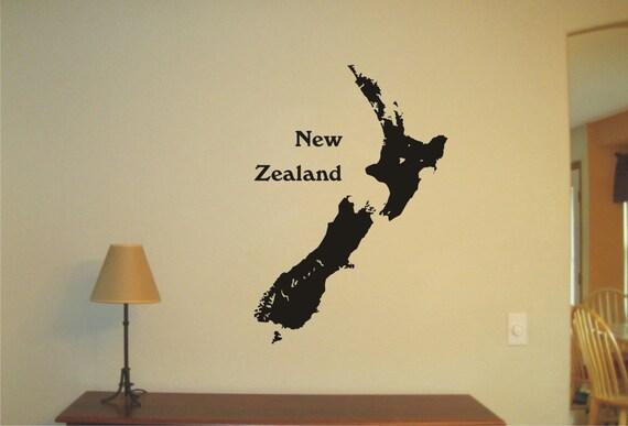 New Zealand Vinyl Decal Wall Sticker Wall Tattoo