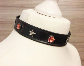 Cats Collar OC Star Studs and Swarovski