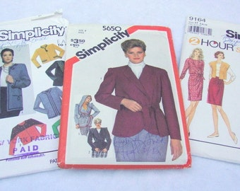 lot of 3 Simplicity sewing patterns