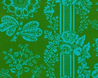 "LAMINATED Cotton  - Green Lace, 56"" Wide, BPA & PVC Free"
