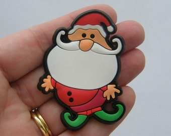 2 Father Christmas embellishment 67 x 51mm