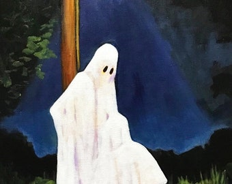 The Haunting of Mile Marker 14 - Mature Original 11 x 14 Painting