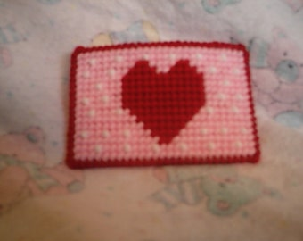 PDF Plastic Canvas Valentine's Day Gift Card Holder Pattern