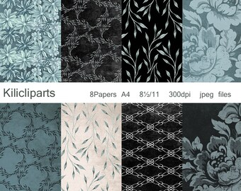 DIGITAL PAPERS, flowers papers, instant download.
