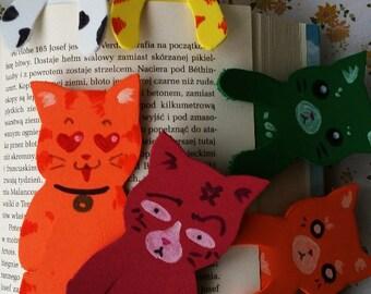 plush foam bookmarks cats cute kawaii manga funny faces colourful