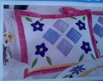 2  Quilted Pillow Shams, quilt, bedspread, home decor, bedding, pillow cases, pillow covers