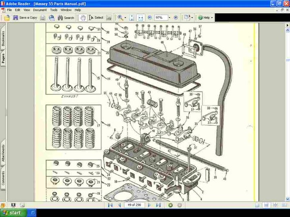 Mf 50 Parts : Massey ferguson mf tractor parts manual for help with