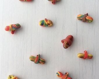 Rainbow bow buttons
