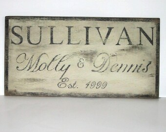 Rustic Personalized Family plaque/Name sign/Established sign